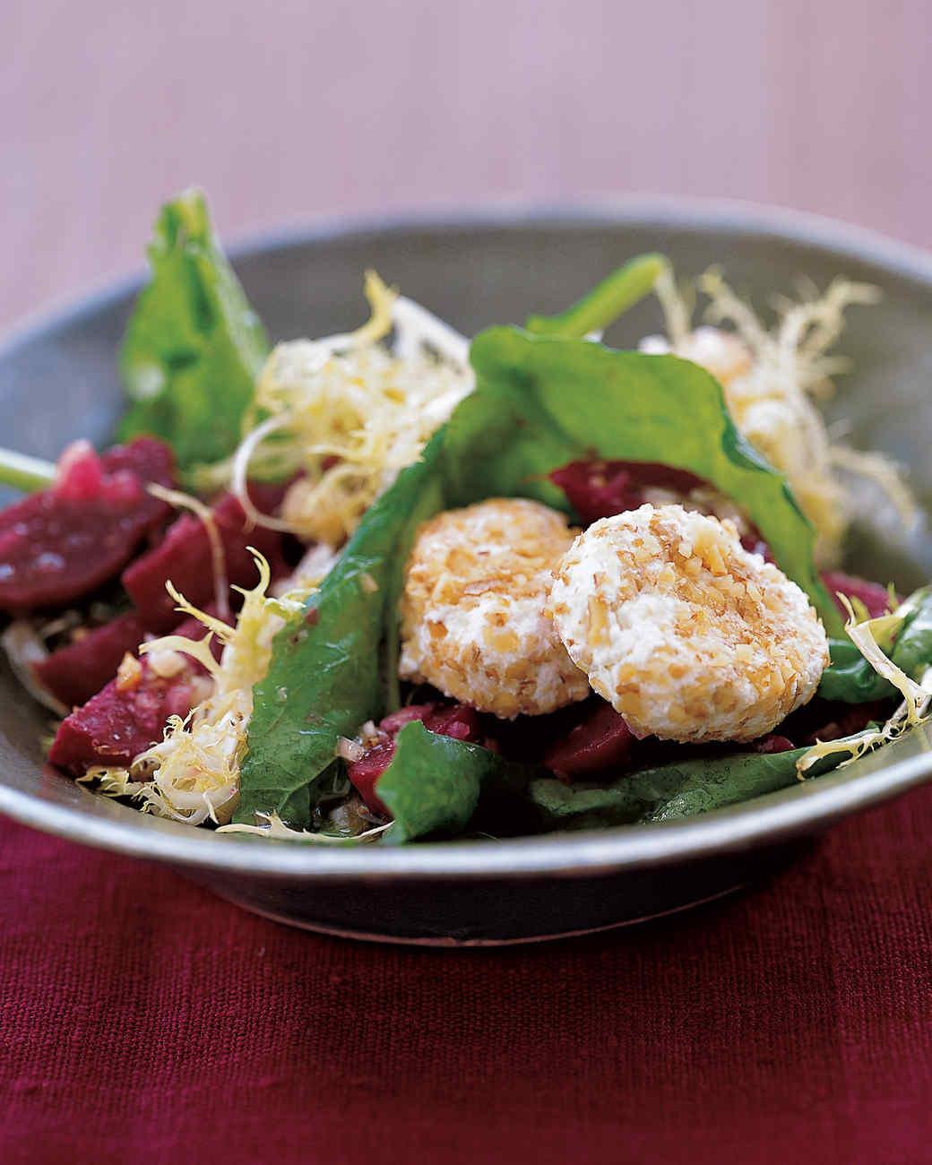 Arugula, Beet, and Goat Cheese Salad