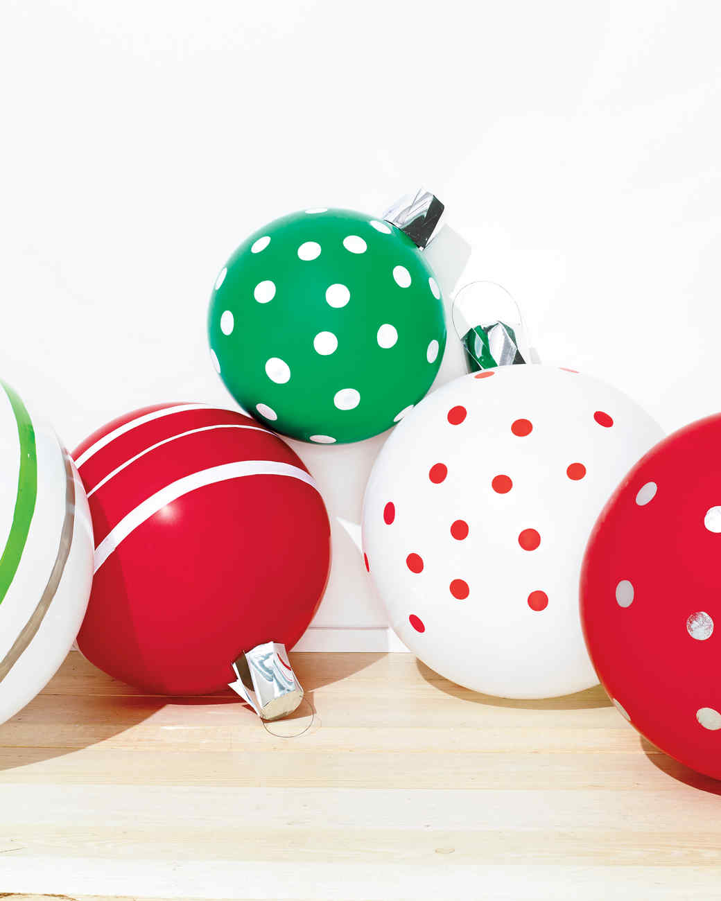 Christmas Ornament Balloons | Martha Stewart