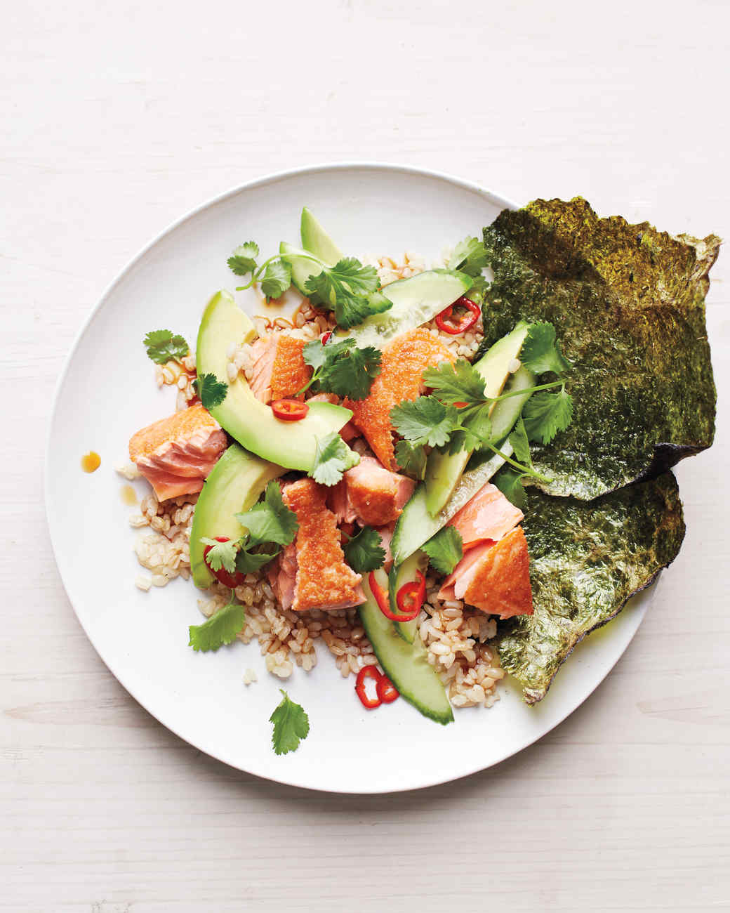 Brown Rice With Tuna, Avocado, And Toasted Nori Recipes ...