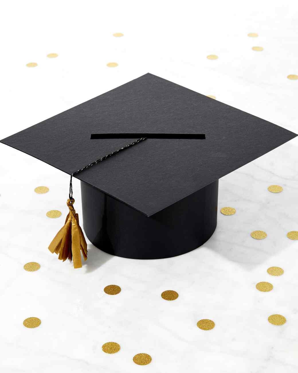 Graduation Cap Party Card Box Martha Stewart