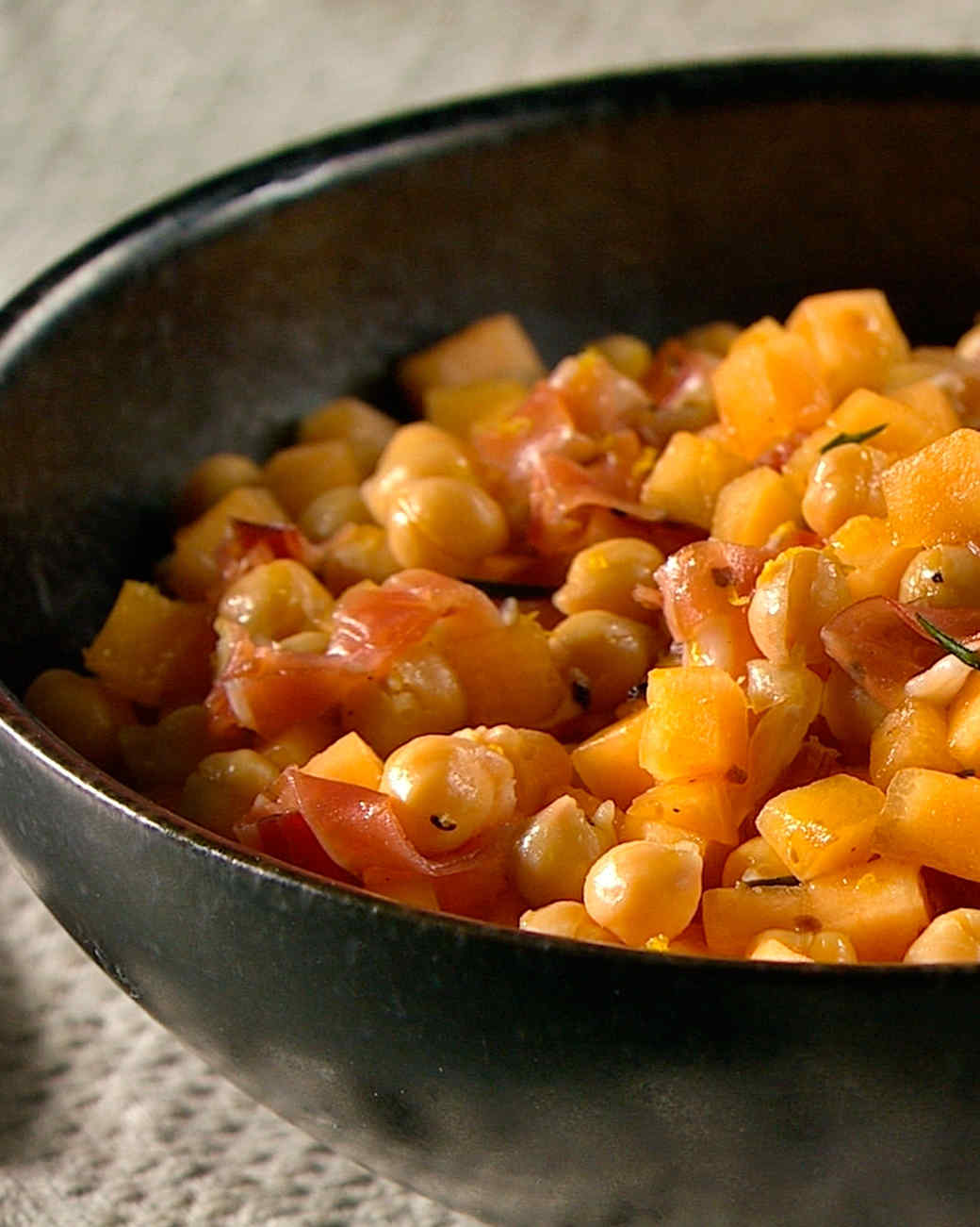 Chickpea, Melon, and Rosemary Salad