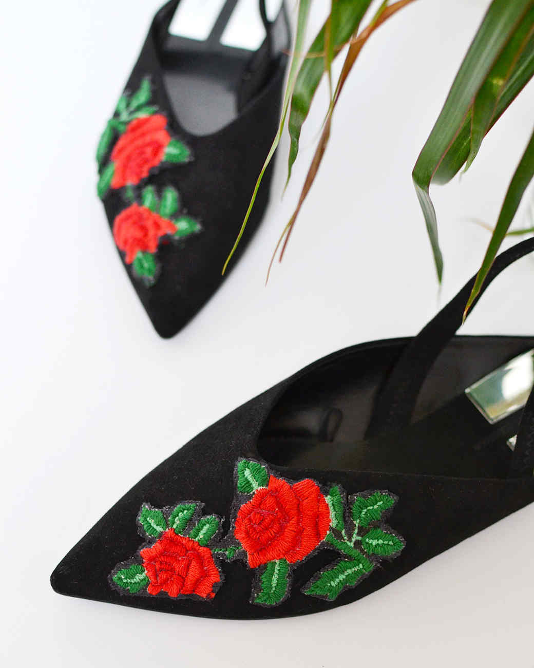 finished embroidery patch flats