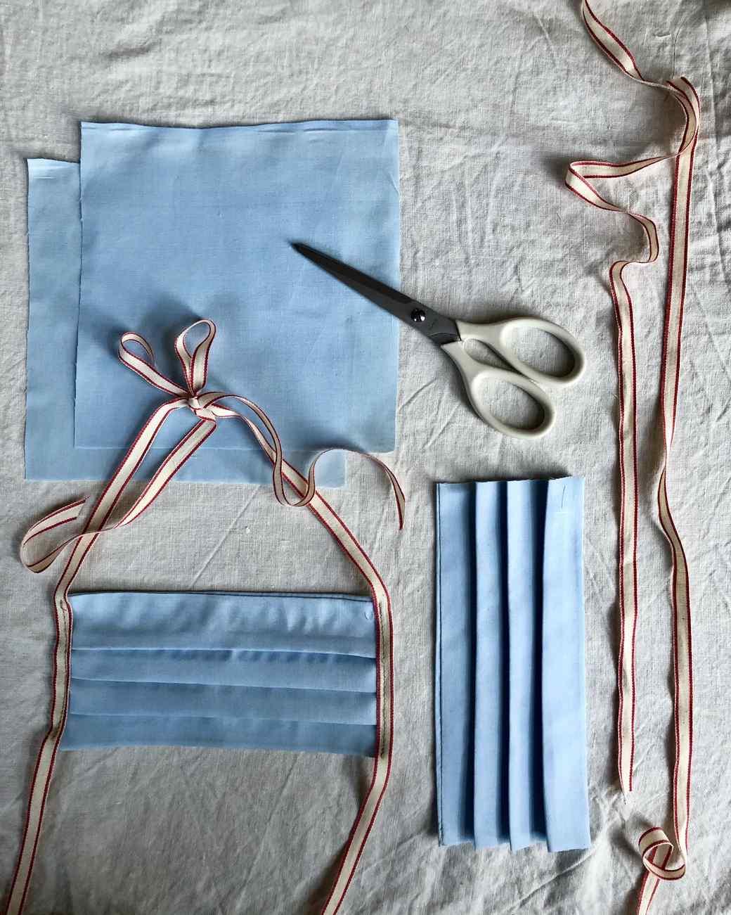 缝制成医疗面罩的织物