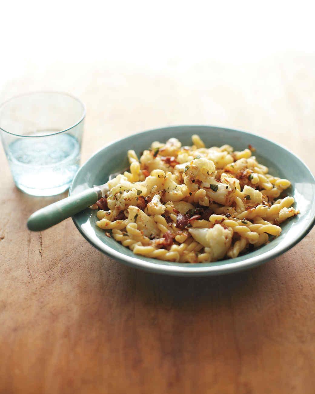 Gemelli with Cauliflower, Bacon, and Sage