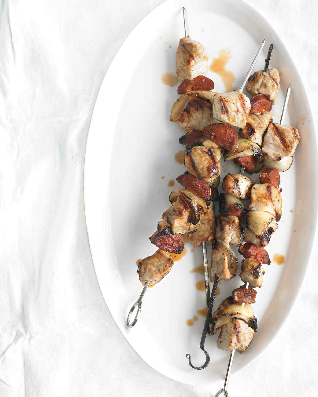 Pork-and-Chorizo Kebabs