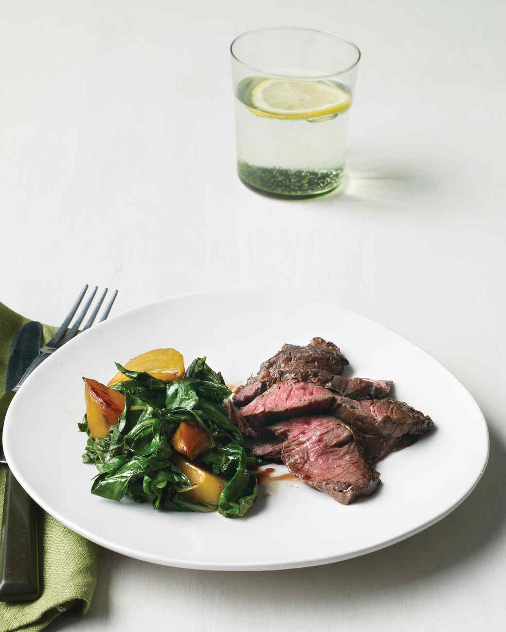 Skirt Steak with Beets and Greens