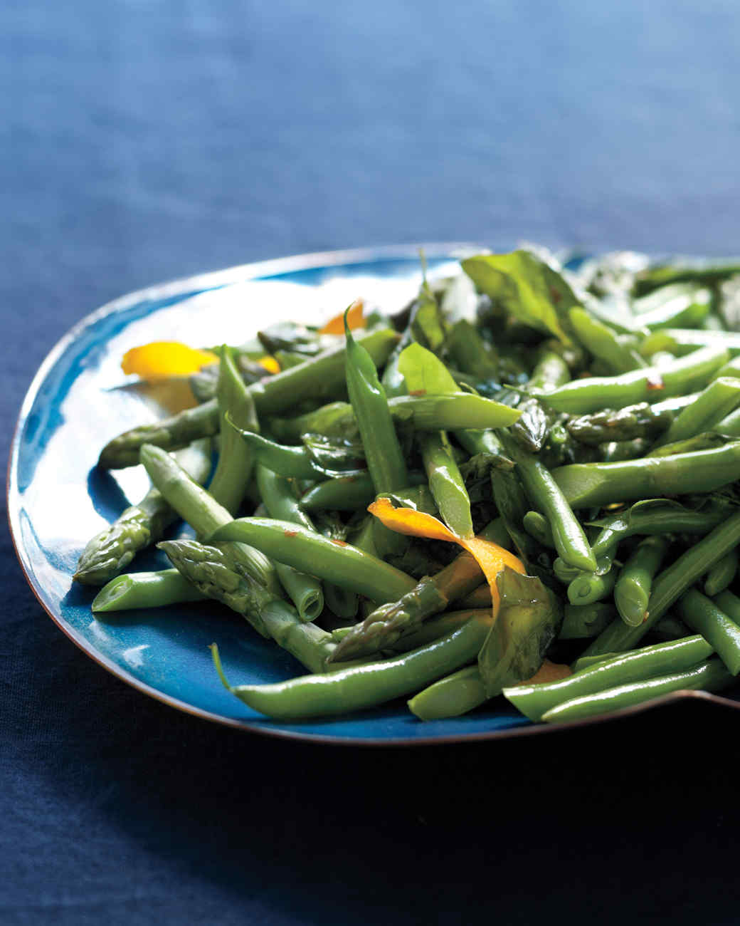 Asparagus and Green Beans with Chili-Orange Oil