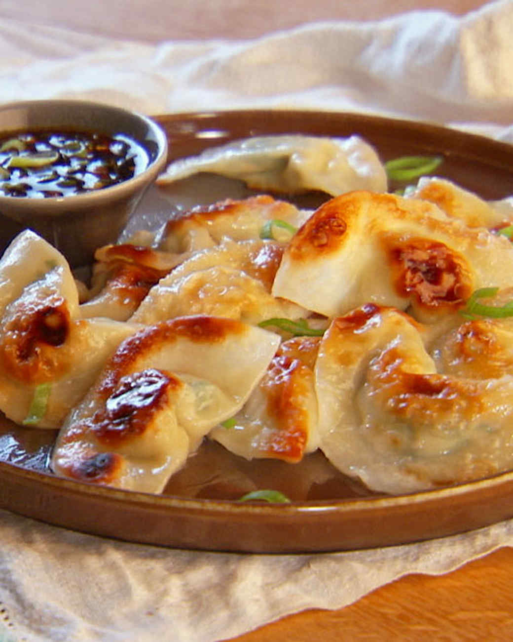 Pot Sticker Dumplings and Soy-Vinegar Sauce, Recipe from Mad Hungry ...