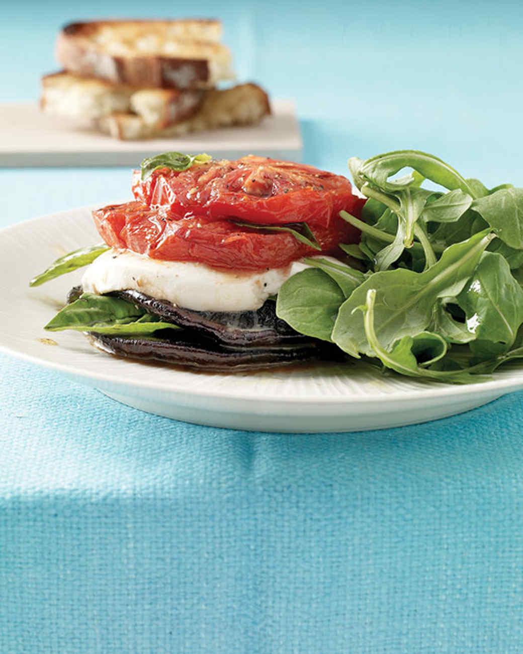 Roasted Portobello Caprese Salad