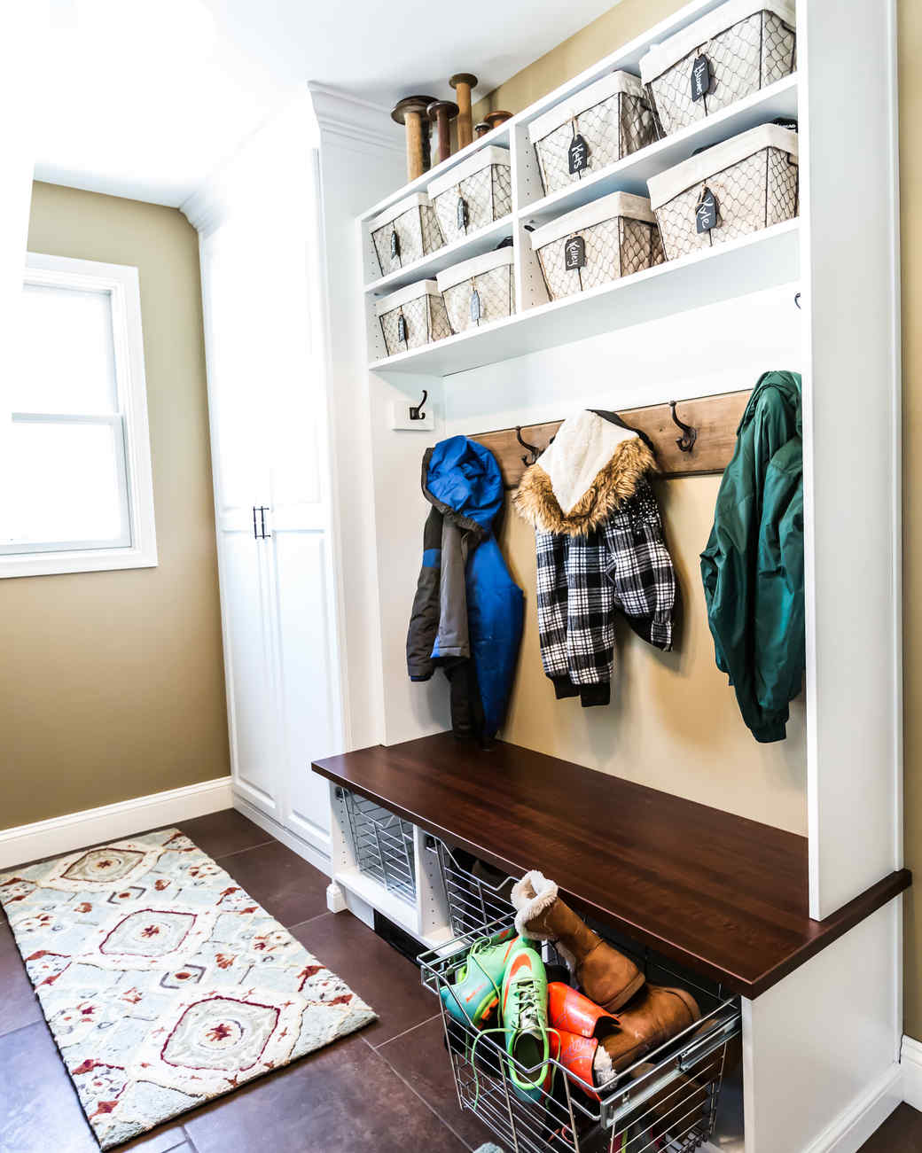 Mudroom Pantry Storage : A mudroom kitchen combo gets spotless makeover martha