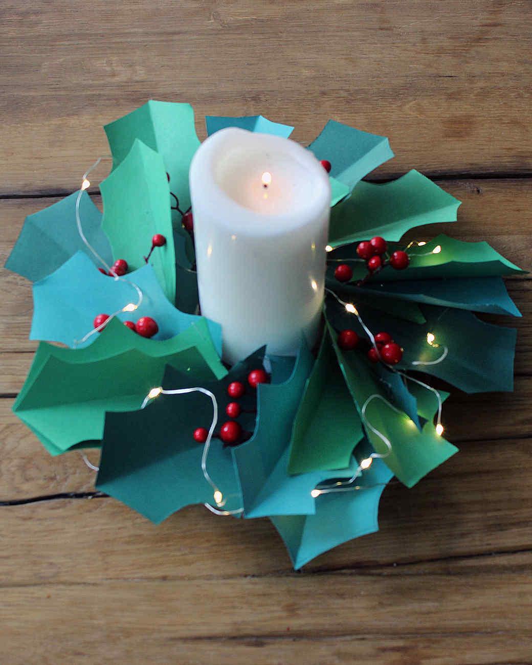 Paper Christmas Wreath Wall-Art | Martha Stewart