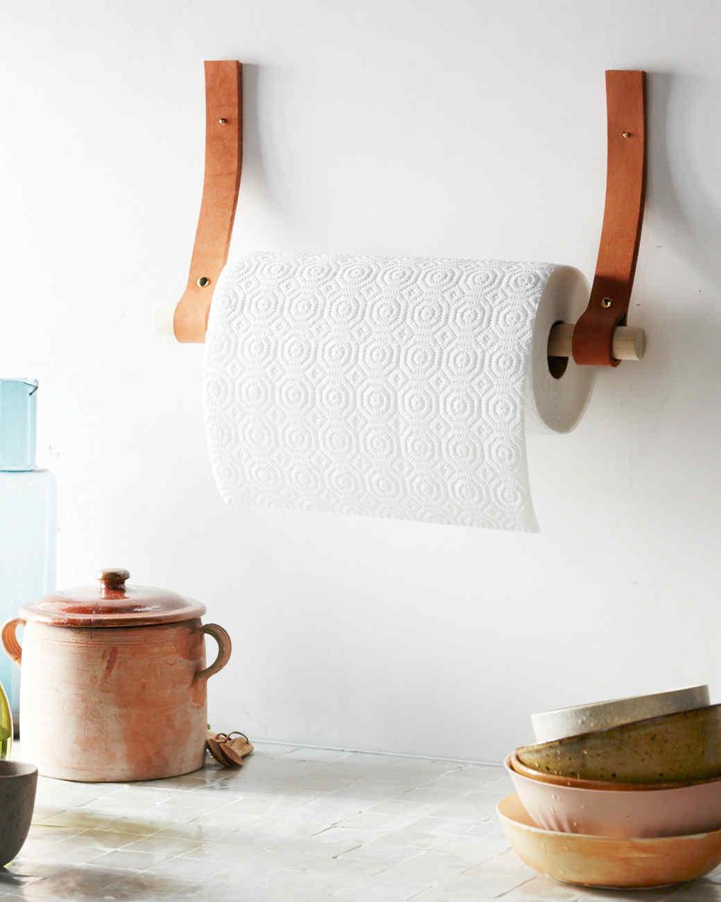 Leather Paper Towel Holder