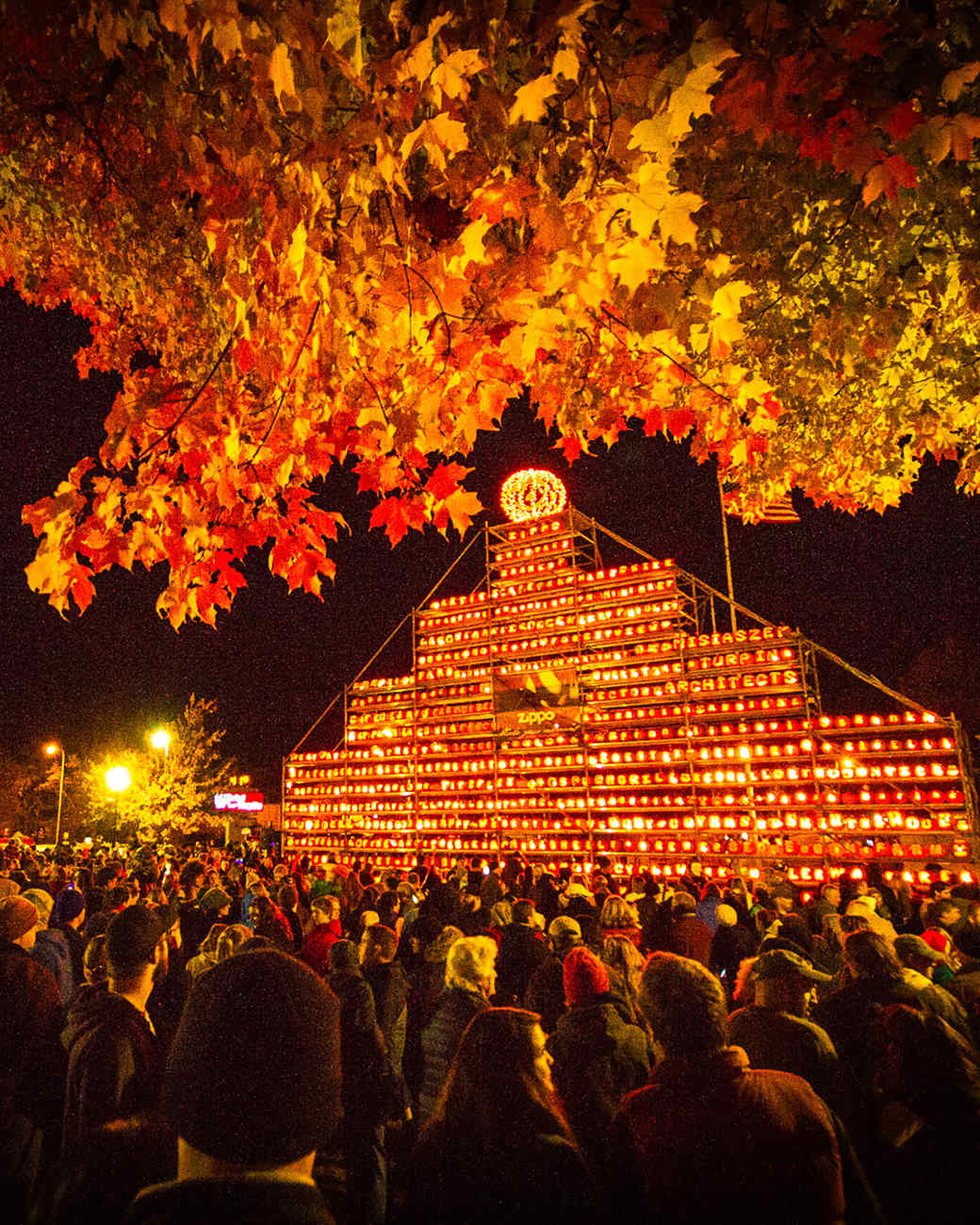 jack-o-lantern pumpkin festival display