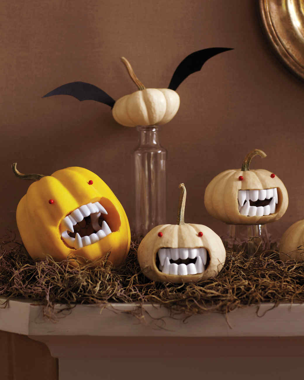 Fanged pumpkins video martha stewart for Deco cuisine halloween