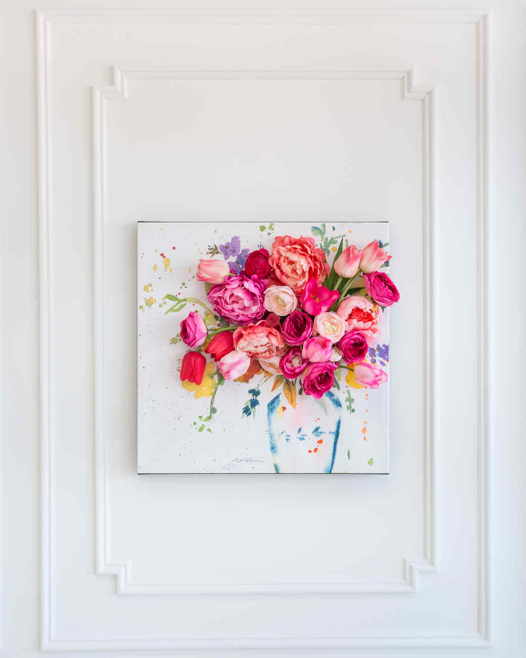 Floral wall art wall plate design ideas for 3d canvas ideas
