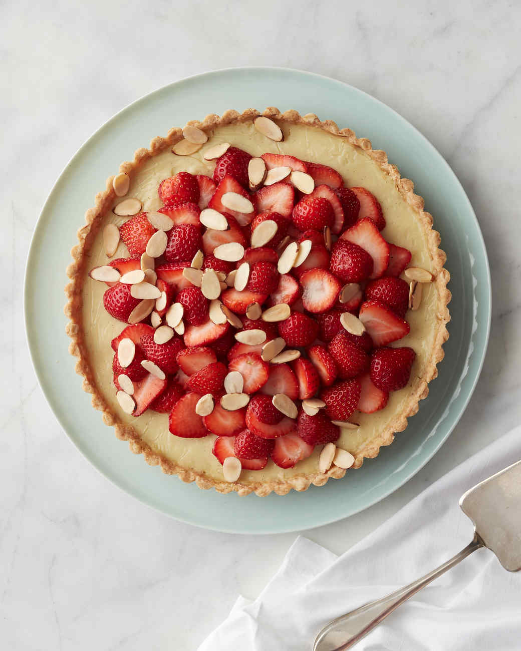 almond strawberry tart
