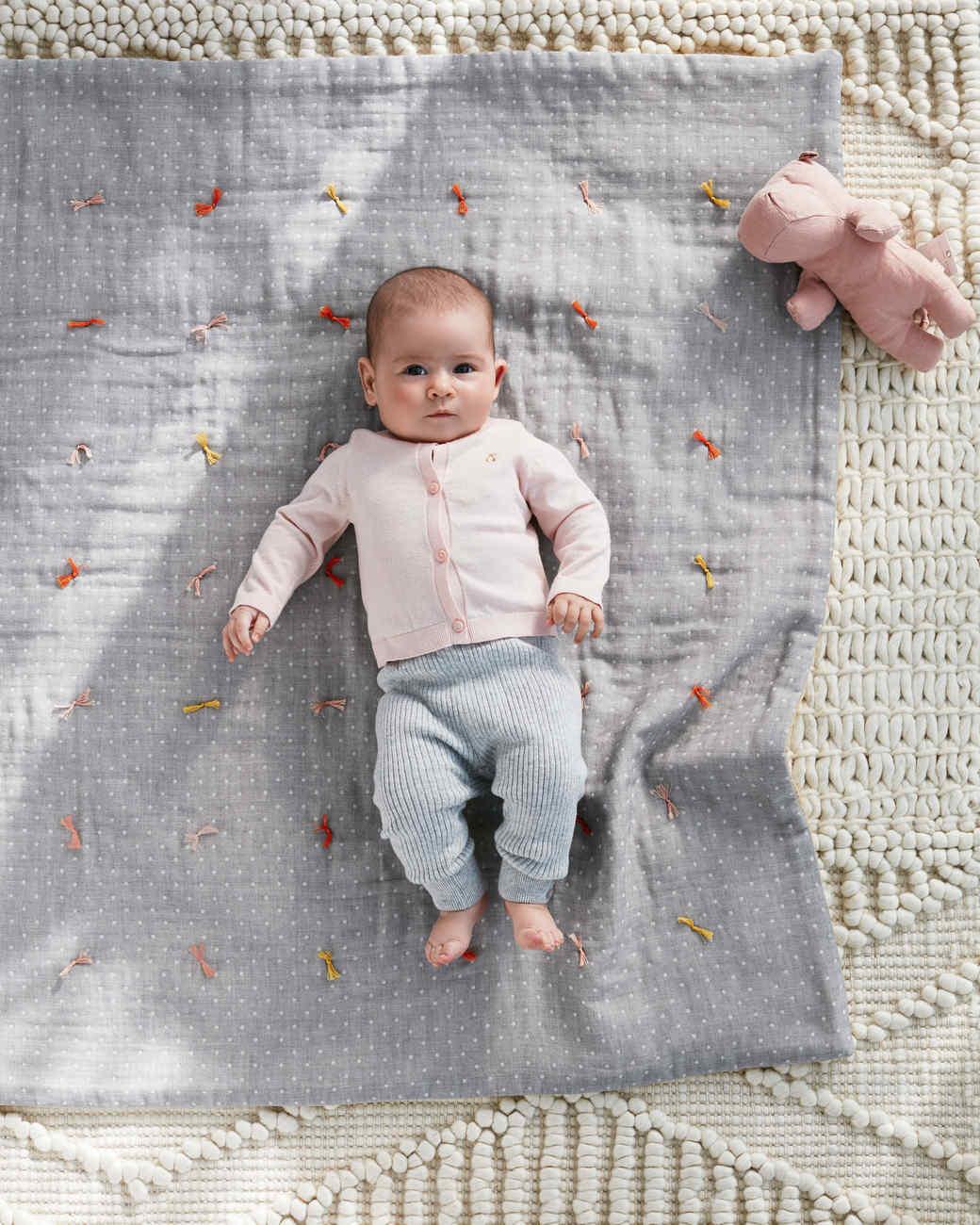 baby quilt ties