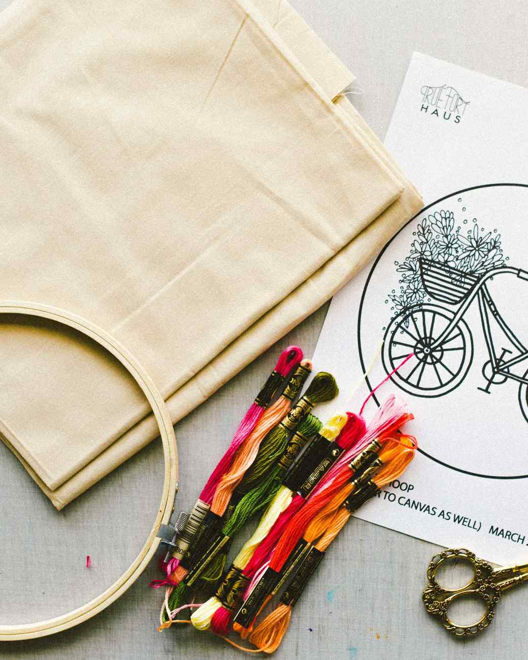 Materials for Martha Stewart Floral Velo