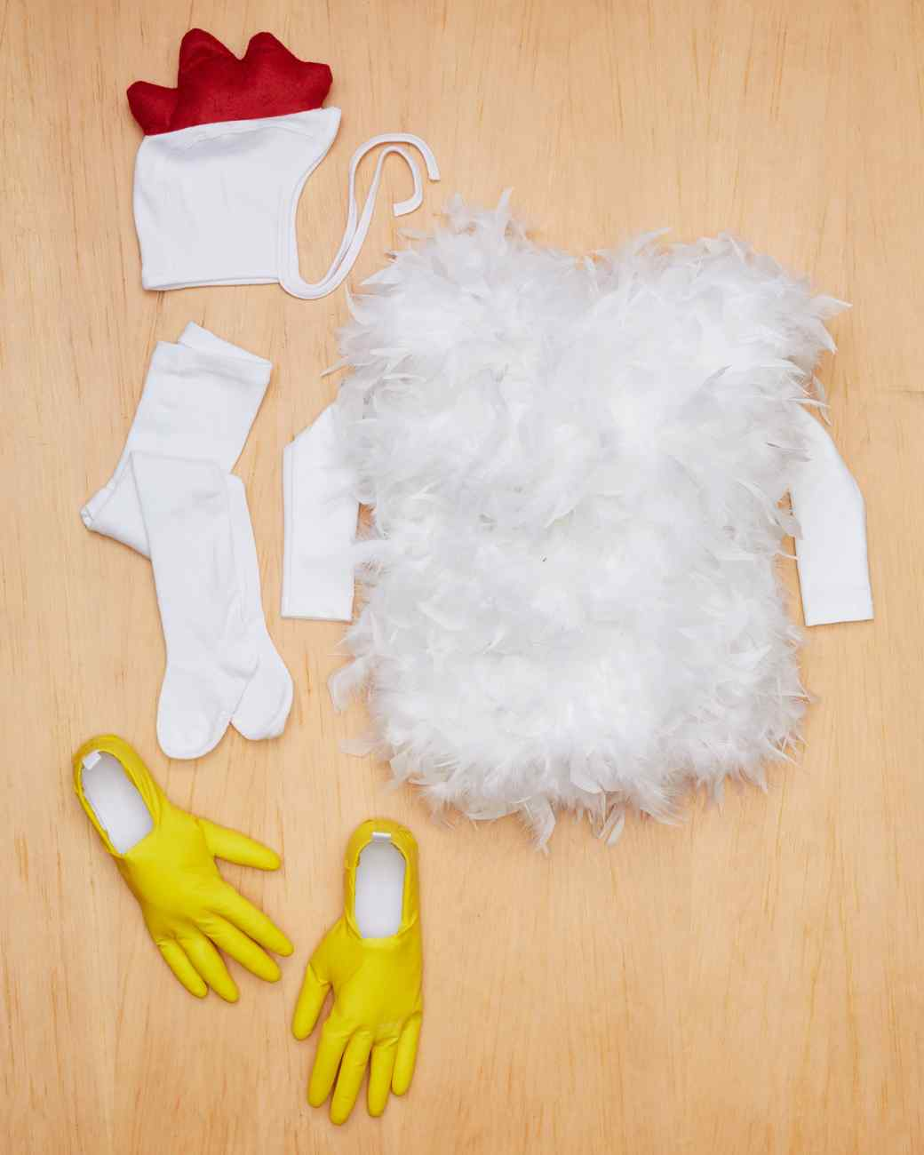 chicken costume materials