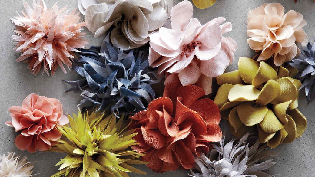 Tentacular Dahlia Fabric Flowers