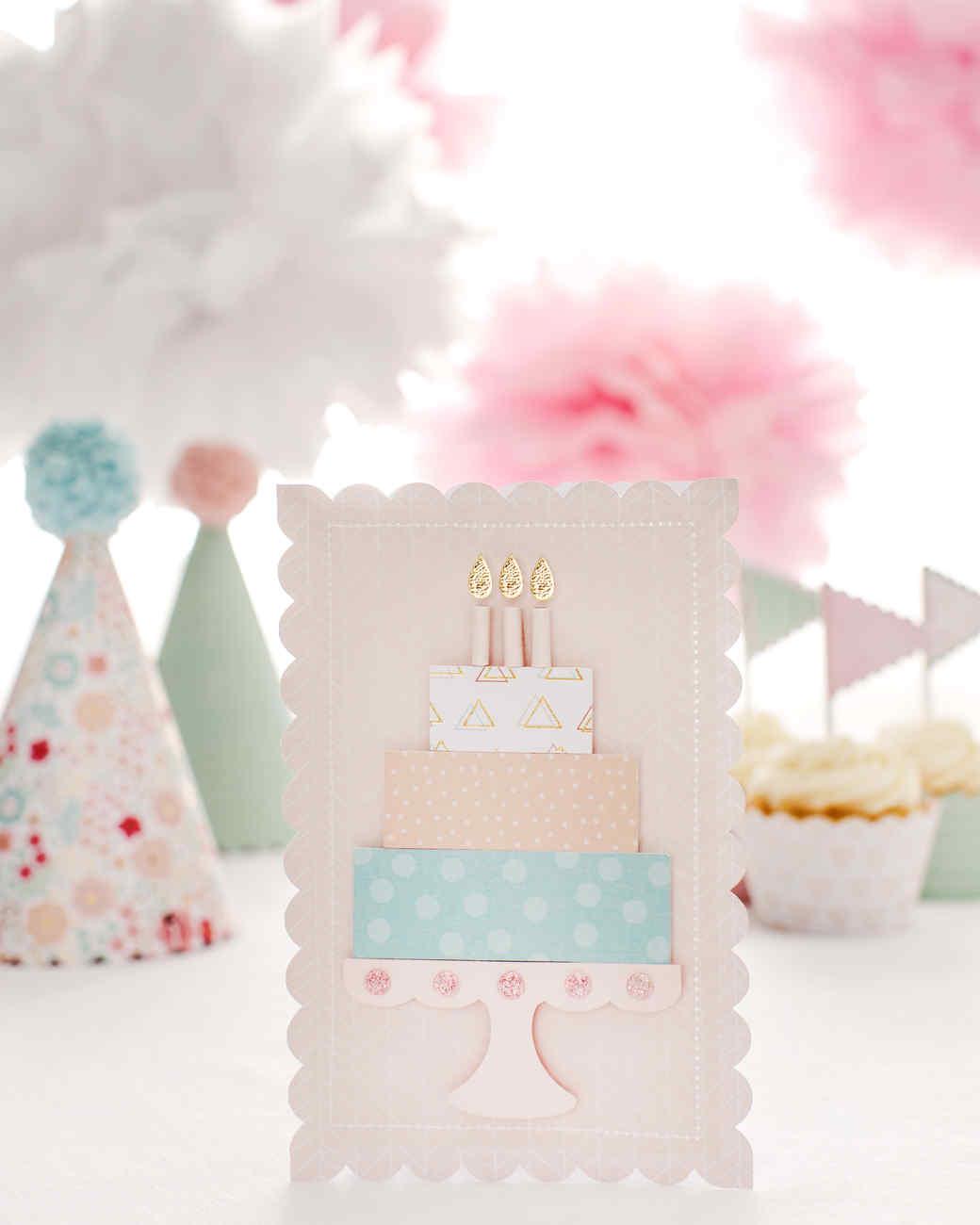 Martha Stewart Cricut 3D Birthday Cake Card Martha Stewart
