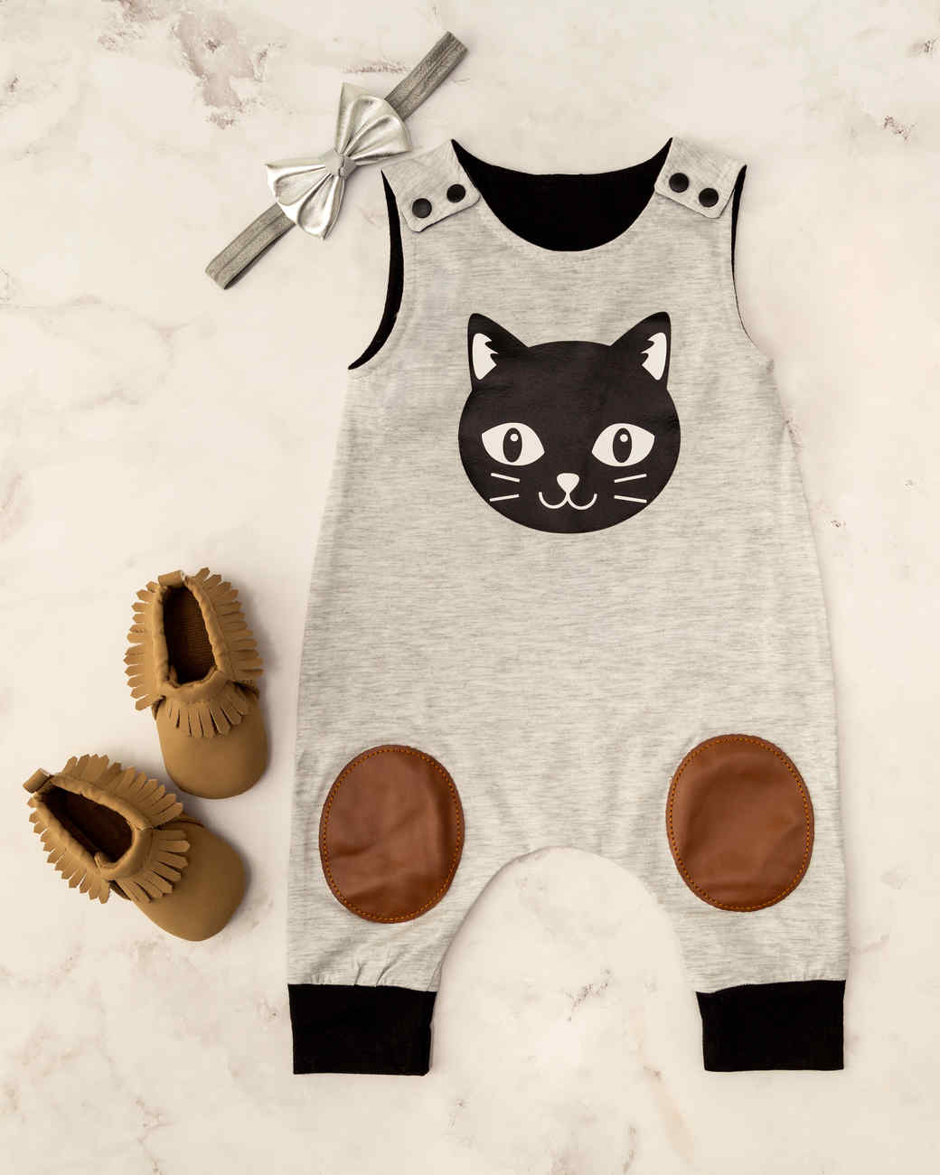 cricut cat baby overalls outfit