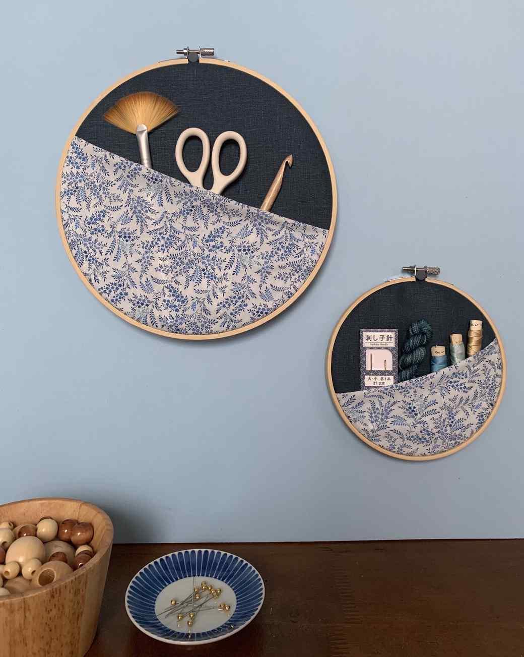 embroidery hoop organizer