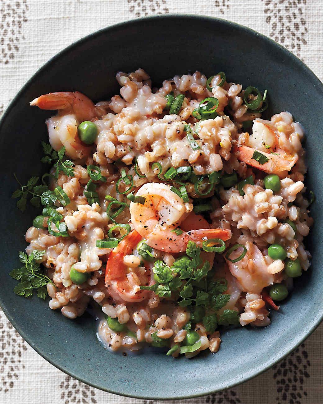 Farro Risotto with Shrimp