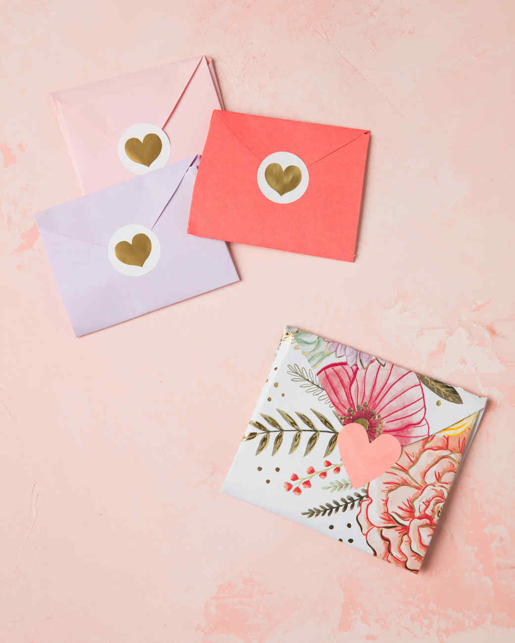 Folding Envelope Hearts Martha Stewart