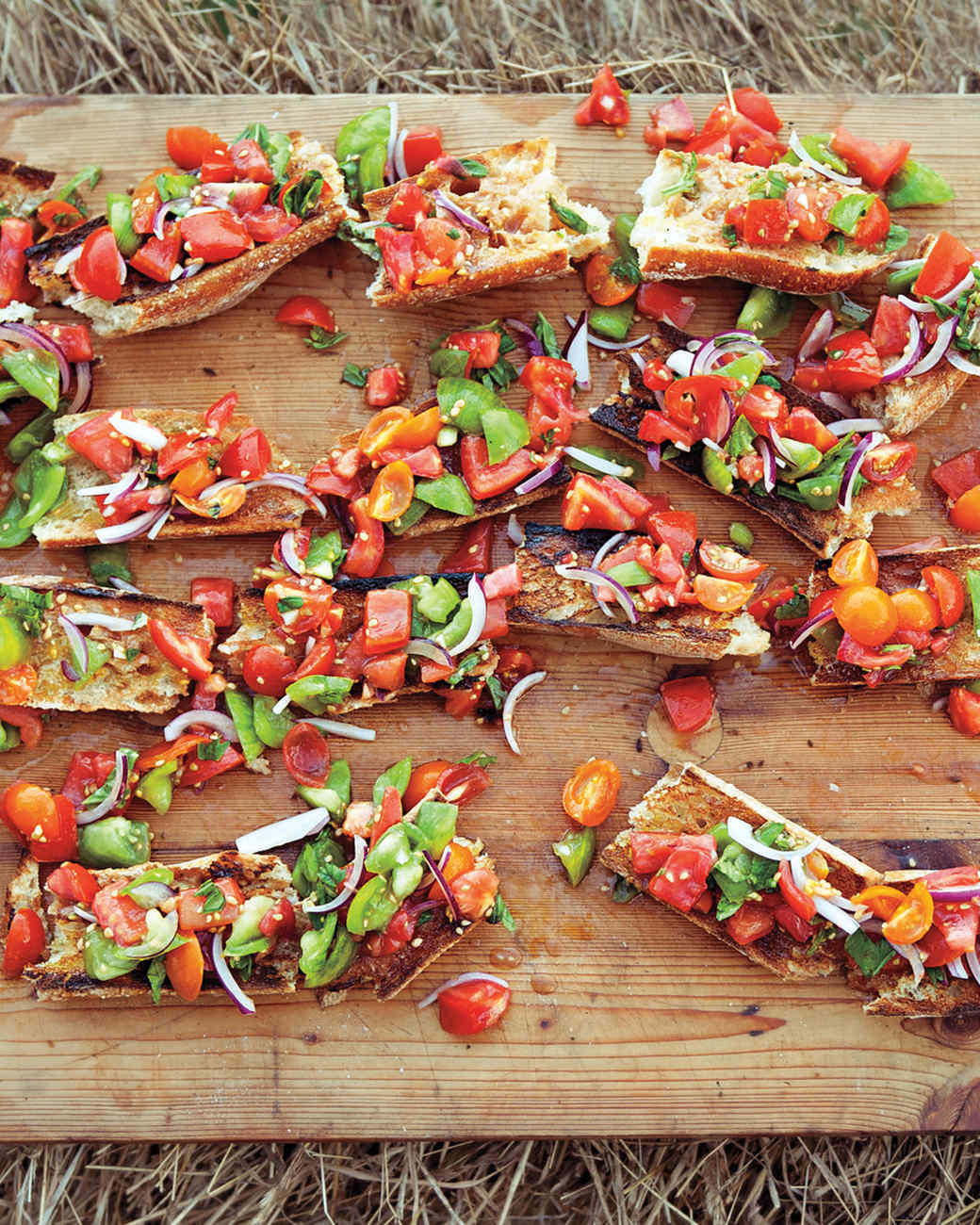 Summer potluck winners martha stewart heirloom tomato bruschetta forumfinder Image collections