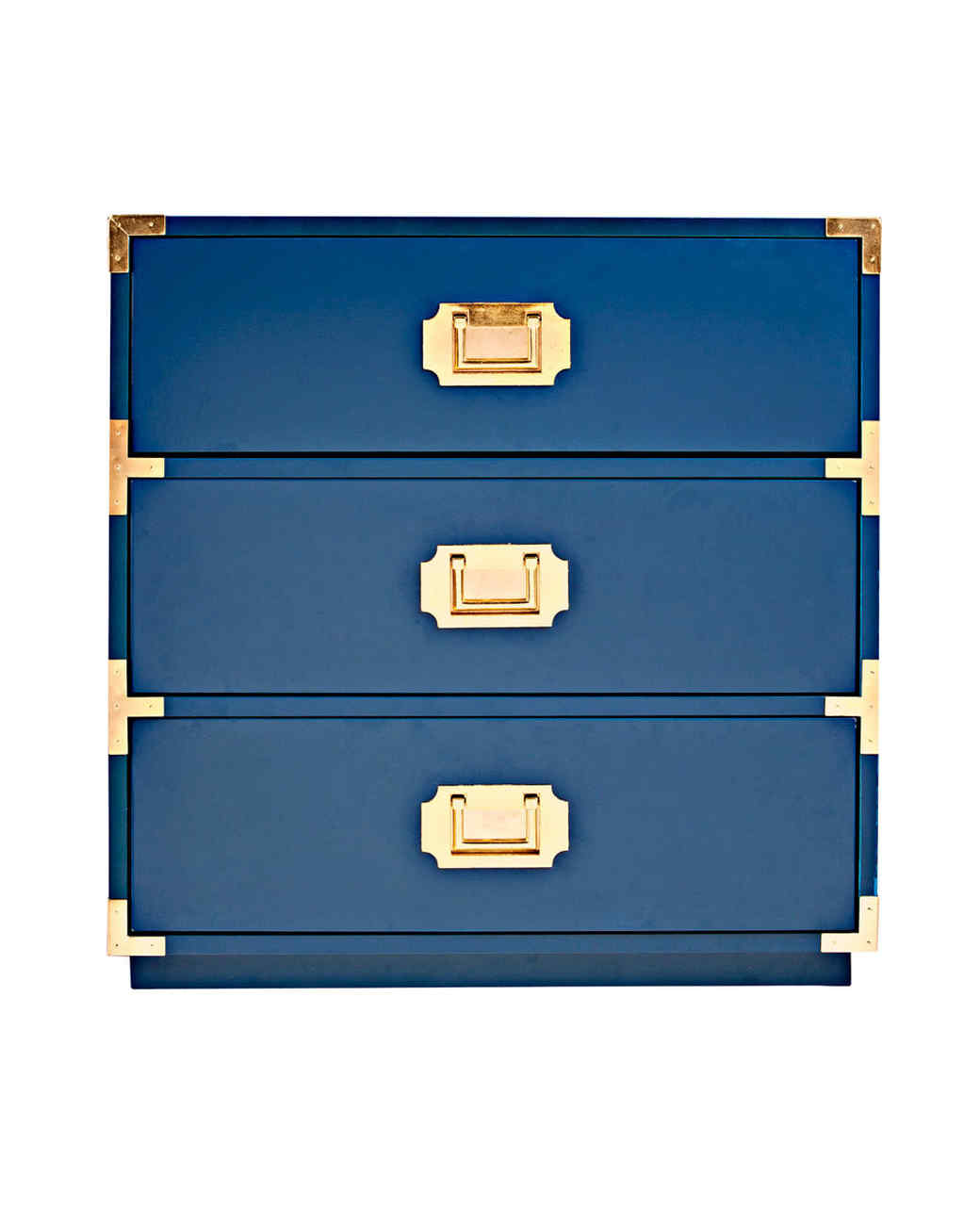 lacquer blue wood drawers