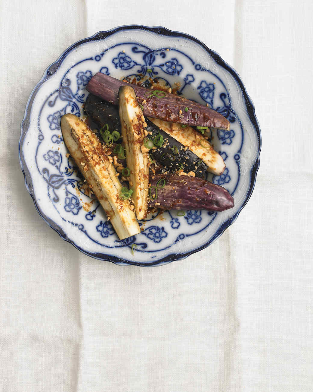 Chinese Eggplant with Peanuts and Scallions Recipe | Martha Stewart
