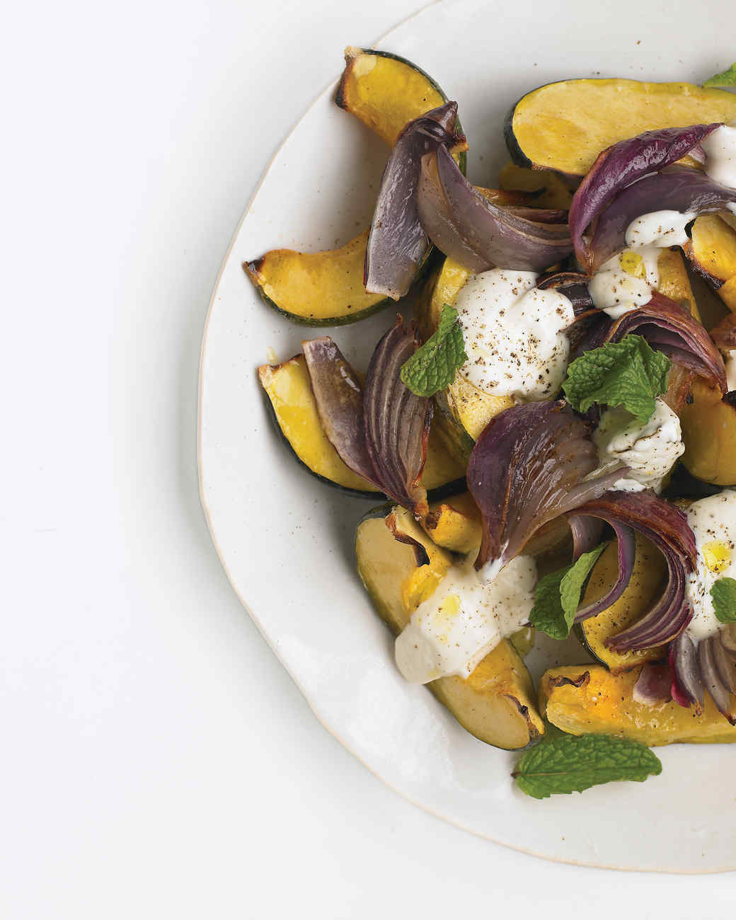 Roasted Squash with Onions and Yogurt