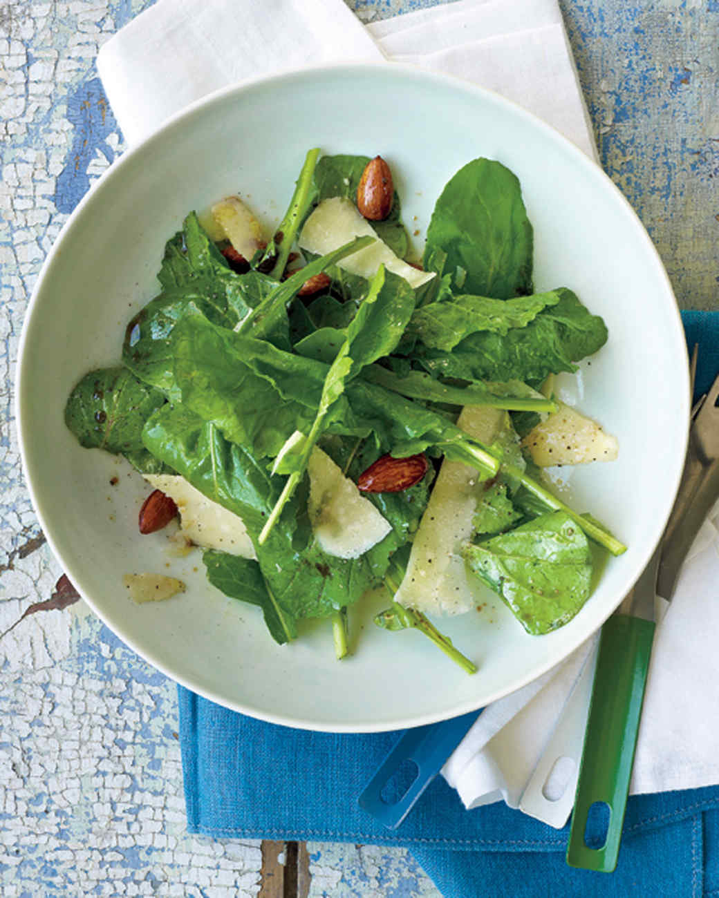Arugula Salad with Almonds and Parmesan