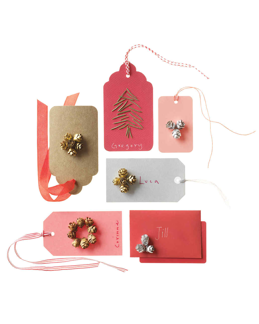 Pinecone embellished gift tags martha stewart pinecone embellished gift tags negle Images