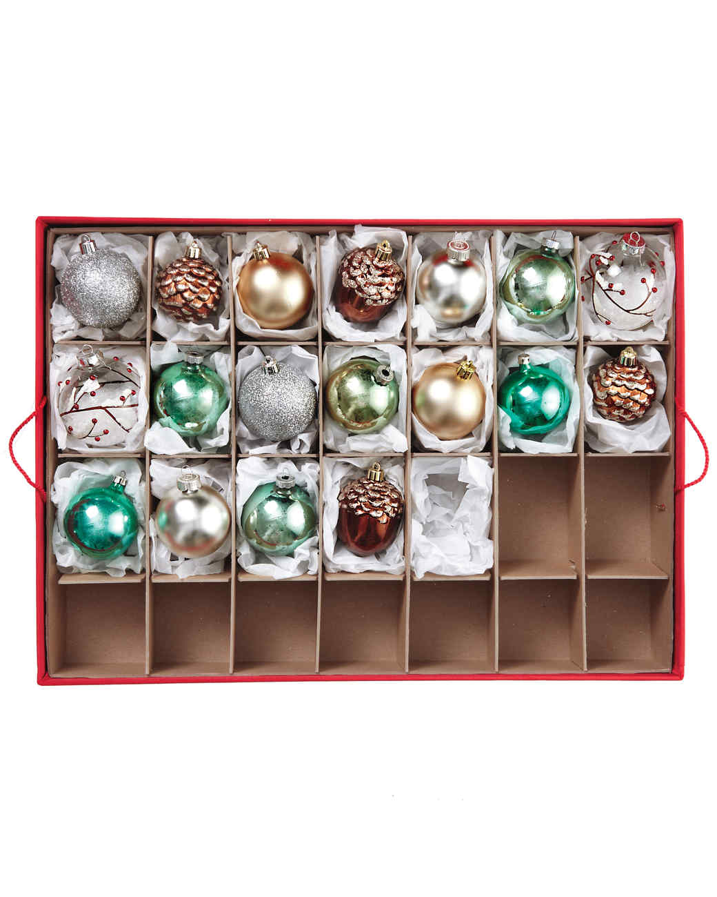 Try A Box With Dividers For Not So Precious Ornaments