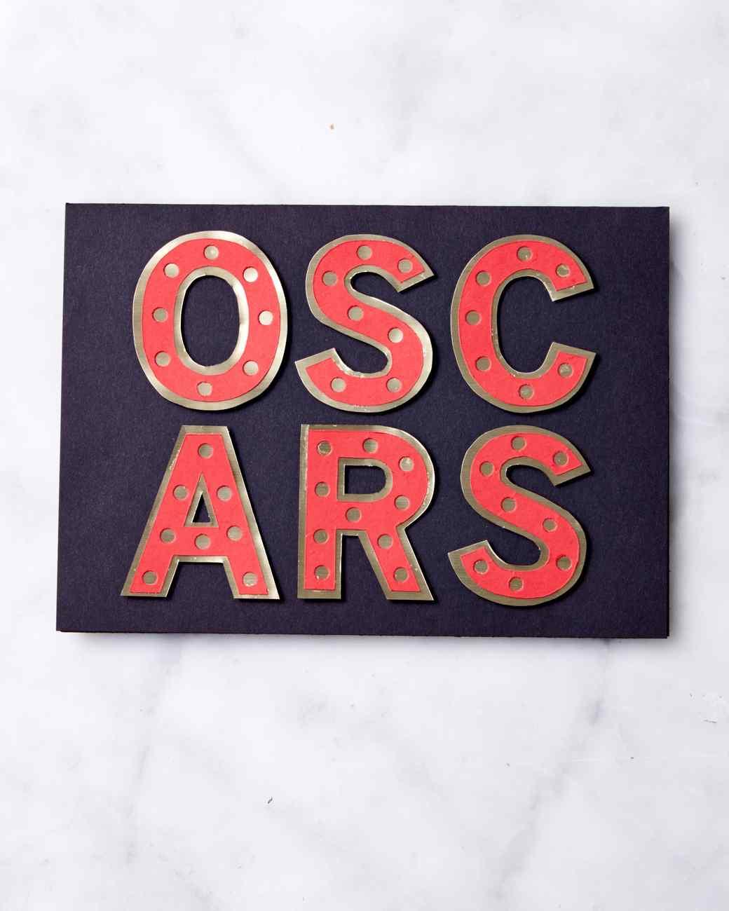 Movie Marquee Invitation for Your Oscar Party | Martha Stewart