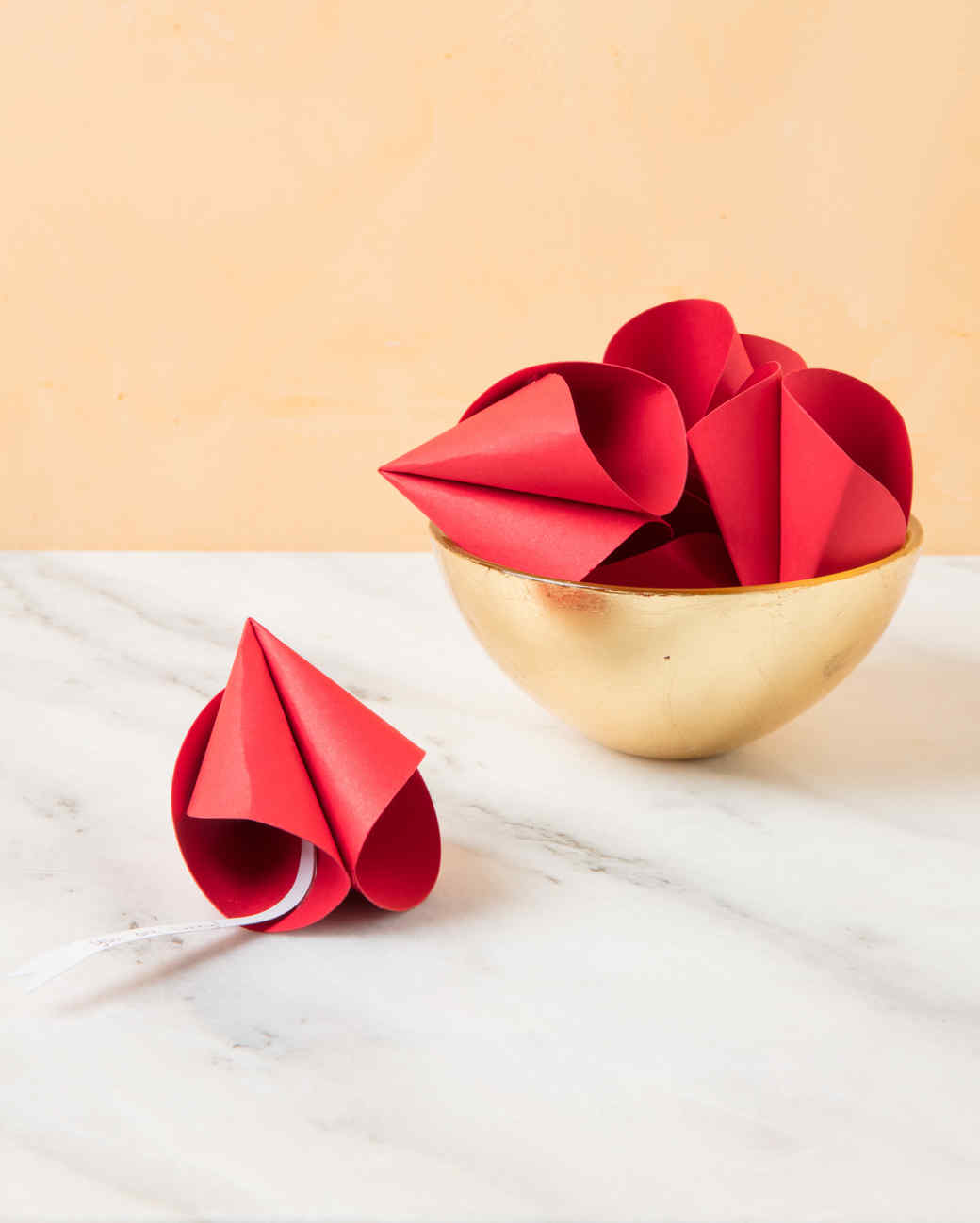 gold paper fortune cookies