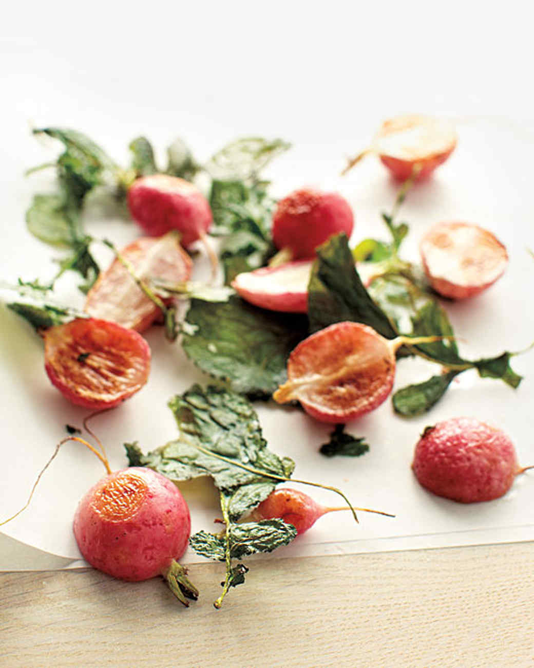 Roasted Radishes and Greens