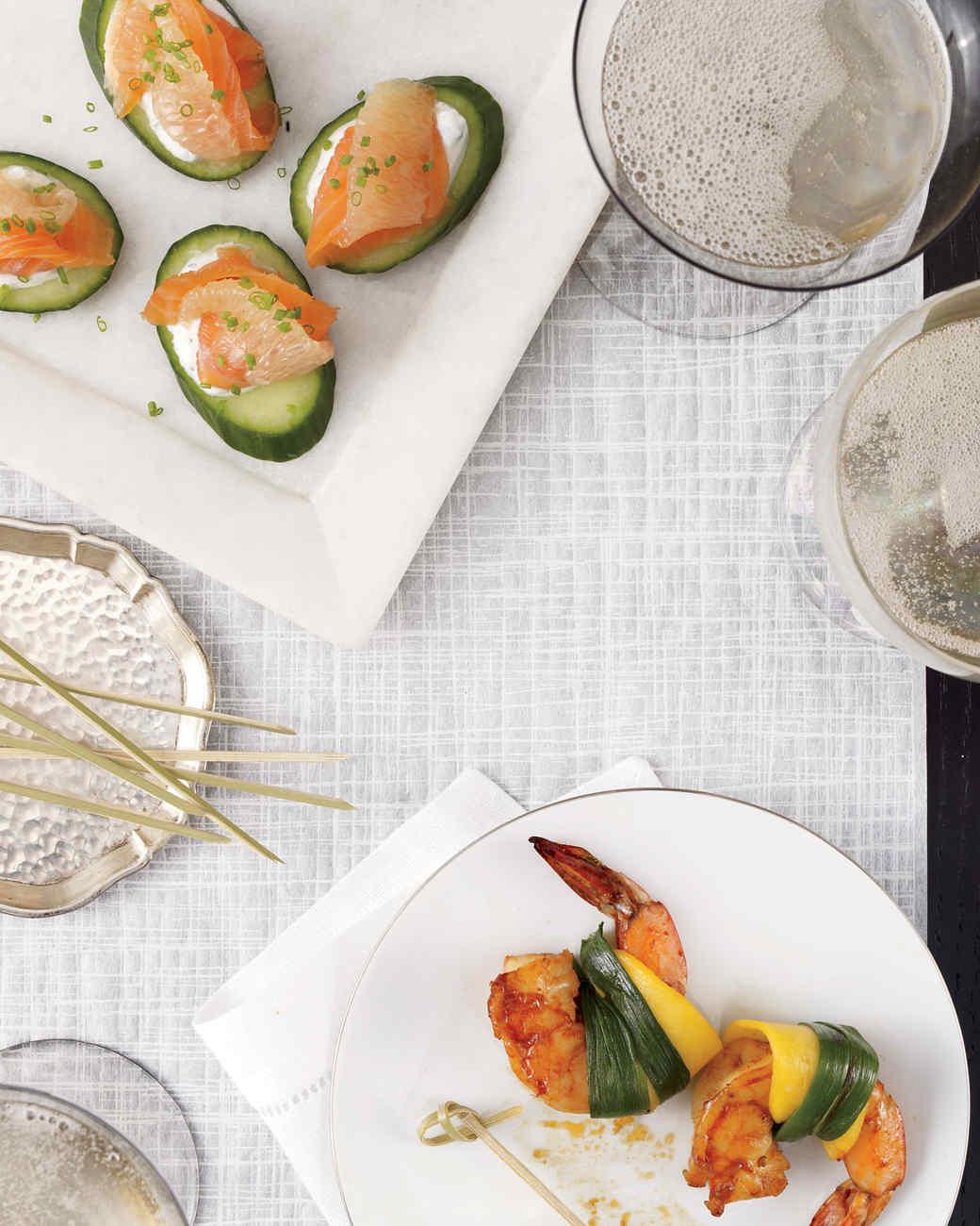 Scallion-and-Mango-Wrapped Shrimp