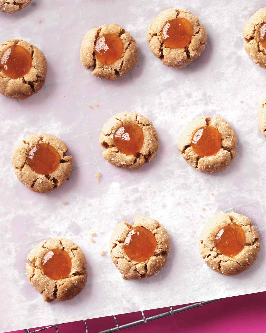 Almond and Apricot Thumbprint Cookies