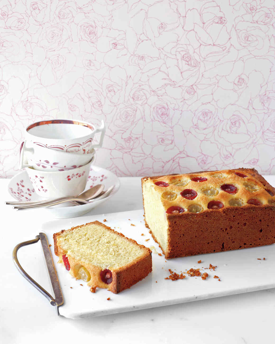 Almond-Grape Tea Cake
