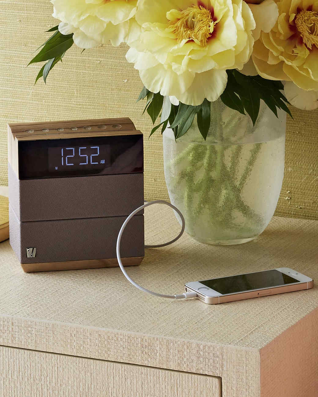 clock with charger