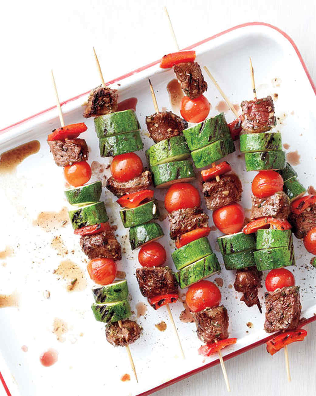 Emeril's Beef and Vegetable Kebabs