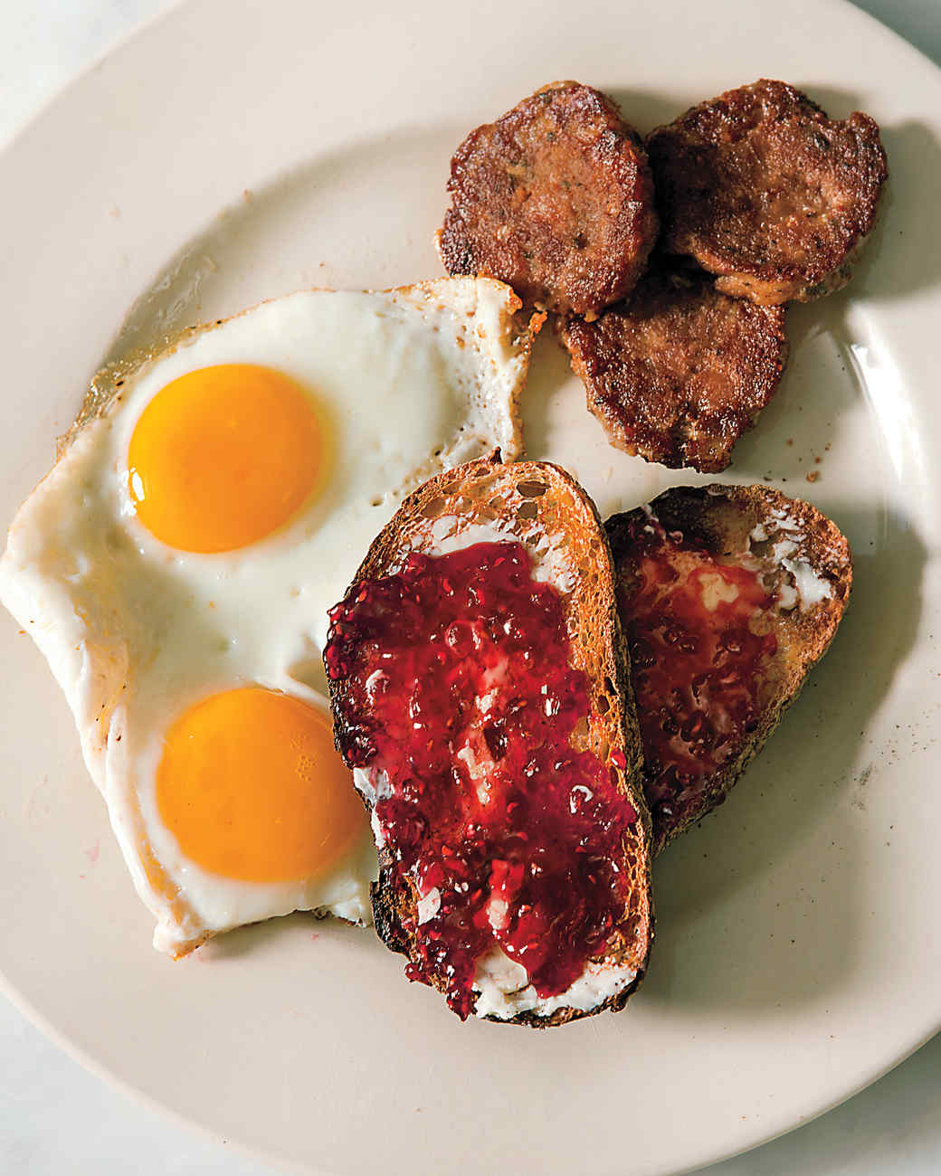Breakfast Sausage Patties with Fried Eggs