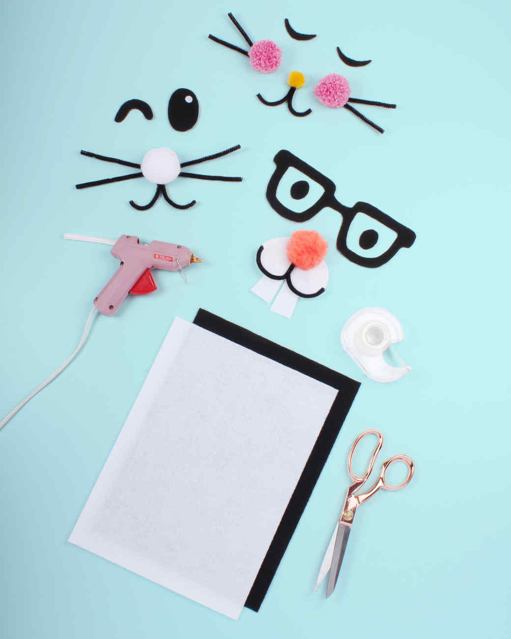 bunny face clothing craft