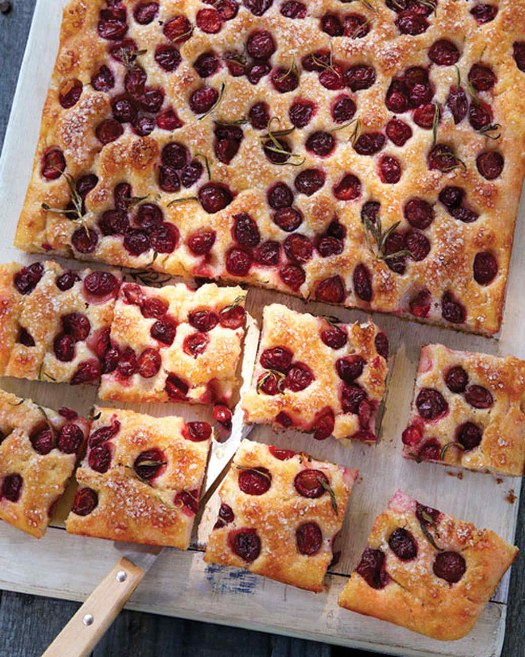 Sour Cherry and Rosemary Focaccia
