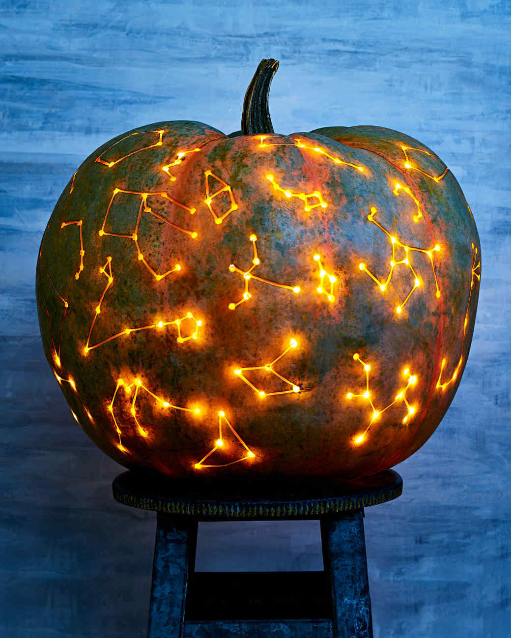 Constellation art pumpkins martha stewart Pumpkin carving beer