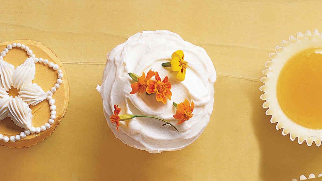 Edible Flowers Cupcakes