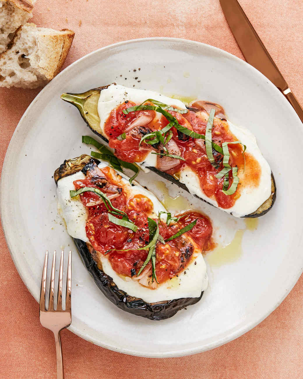 grilled-eggplant parmesan